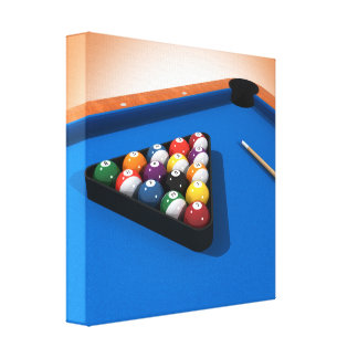 Canvas Print: Pool Balls / Billiards