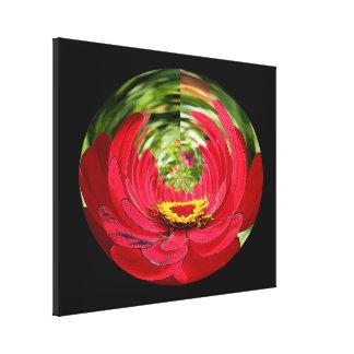 Canvas Print - Red Flower Fish-Eye