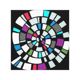 canvas print - retro pattern
