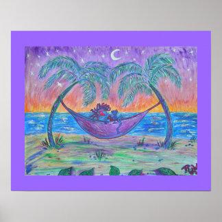 Canvas Print- Tropical Martini Poster