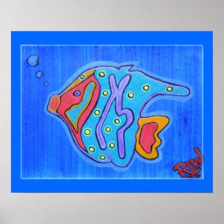 Canvas Print- Vibrant Tropical Fish Poster