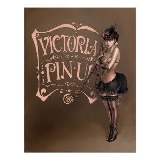 CANVAS PRINT · victorian pinup print