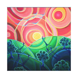 Canvas Print - We are All Connected - circle art