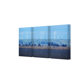 Canvas print - Wind farm on delta