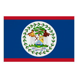 Canvas Print with Flag of Belize