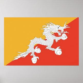 Canvas Print with Flag of Bhutan