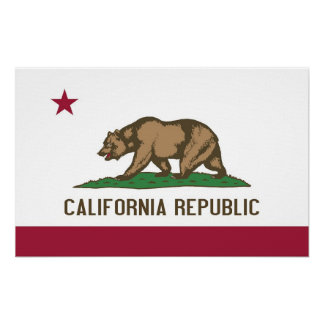Canvas Print with Flag of California, U.S.A.