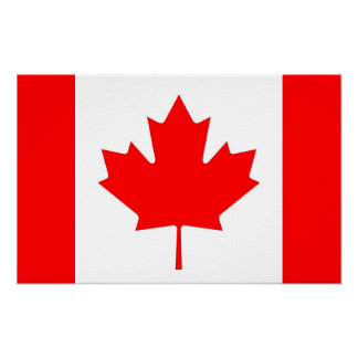 Canvas Print with Flag of Canada