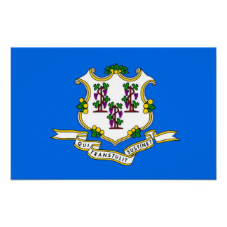Canvas Print with Flag of Connecticut, U.S.A.