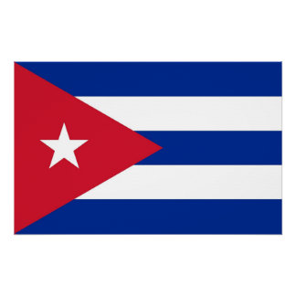 Canvas Print with Flag of Cuba