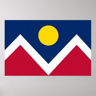 Canvas Print with Flag of Denver, Colorado, U.S.A.