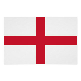 Canvas Print with Flag of England