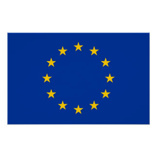 Canvas Print with Flag of European Union