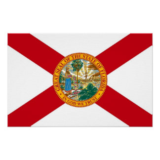 Canvas Print with Flag of Florida, U.S.A.