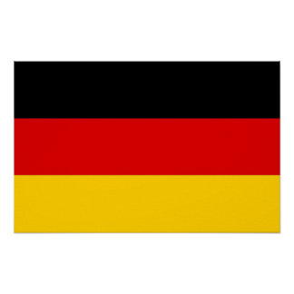 Canvas Print with Flag of Germany