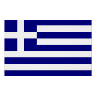 Canvas Print with Flag of Greece
