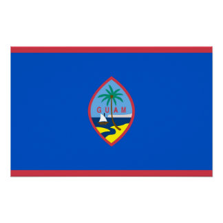 Canvas Print with Flag of Guam, U.S.A.