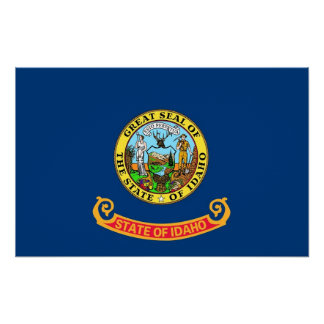 Canvas Print with Flag of Idaho, U.S.A.