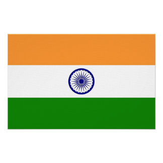 Canvas Print with Flag of India