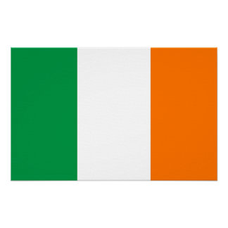 Canvas Print with Flag of Ireland