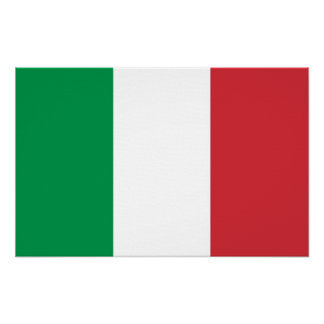 Canvas Print with Flag of Italy