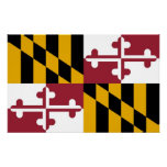 Canvas Print with Flag of Maryland, U.S.A.