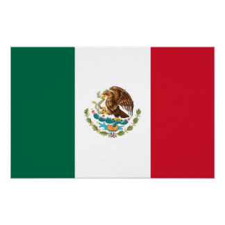 Canvas Print with Flag of Mexico