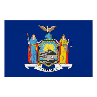 Canvas Print with Flag of New York, U.S.A.