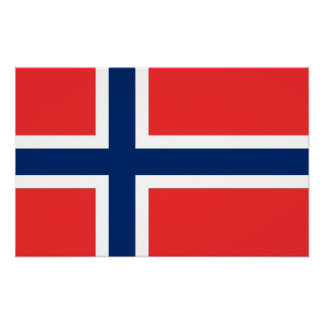 Canvas Print with Flag of Norway