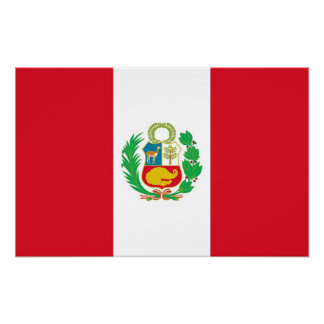 Canvas Print with Flag of Peru