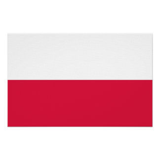 Canvas Print with Flag of Poland