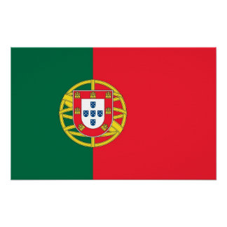 Canvas Print with Flag of Portugal