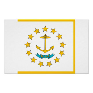 Canvas Print with Flag of Rhode Island, U.S.A.