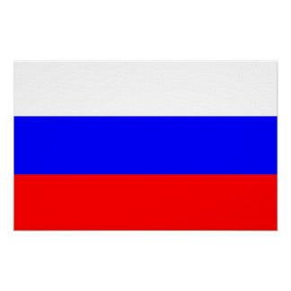 Canvas Print with Flag of Russia
