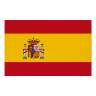 Canvas Print with Flag of Spain