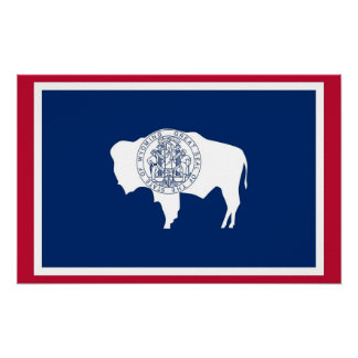 Canvas Print with Flag of Wyoming, U.S.A.