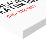 Creases Out Eaton Road  Canvas Prints