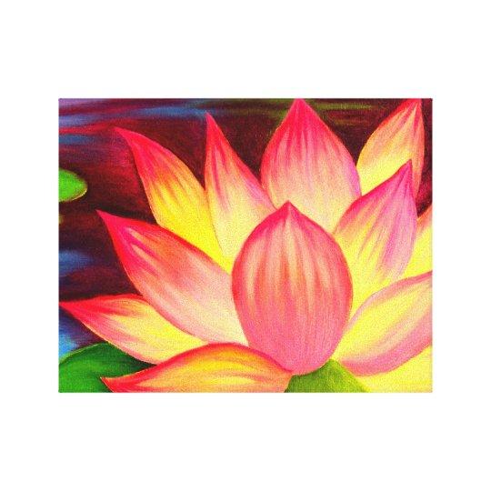 Canvas prints lotus flower painting art zazzle canvas prints lotus flower painting art mightylinksfo