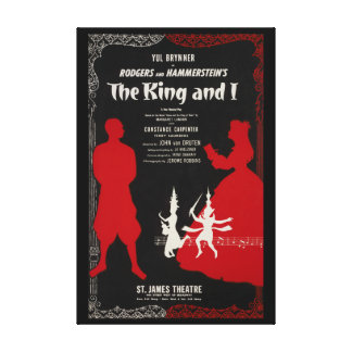 Canvas reproduction Vintage poster The King and I