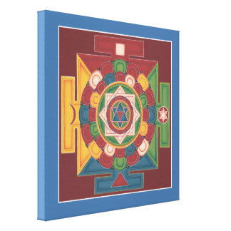 CANVAS SQUARE - Mandala of the 5 Elements Stretched Canvas Prints