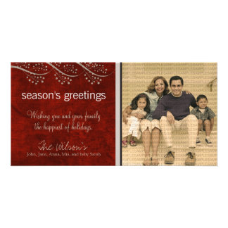 Canvas Textured Grunge Holiday Photo Card :: 01