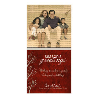 Canvas Textured Grunge Holiday Photo Card :: 02