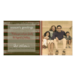 Canvas Textured Grunge Holiday Photo Card :: 04
