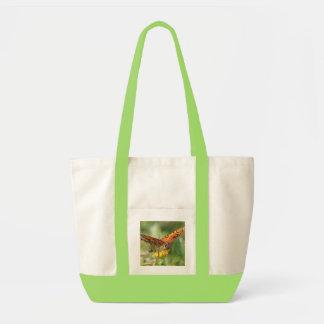 Canvas tote bag, large orange papillon butterfly