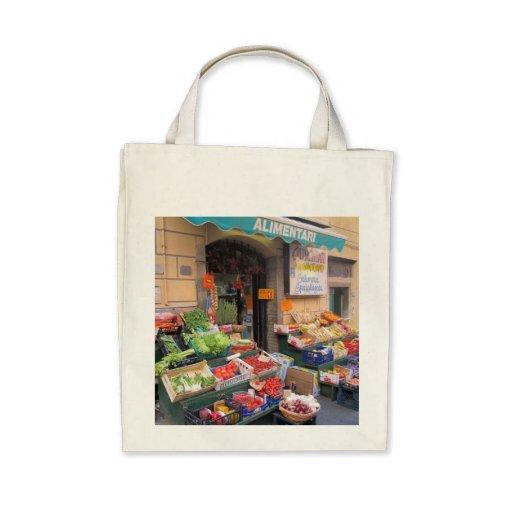 Canvas Tote--Italian Market Canvas Bag