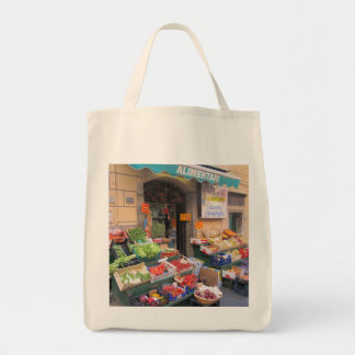 Canvas Tote--Italian Market Grocery Tote Bag