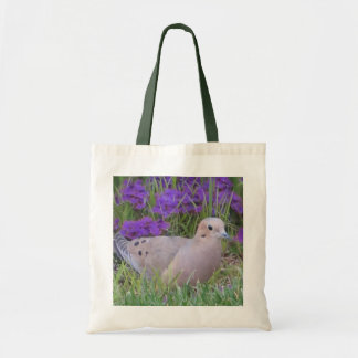 Canvas Tote--Mourning Dove in Verbena Budget Tote Bag