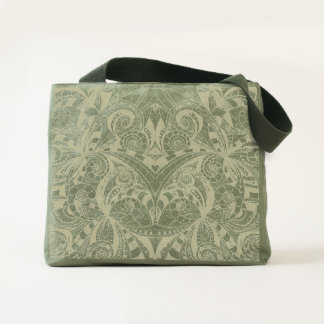 Canvas Utility Tote Floral Doodle Drawing