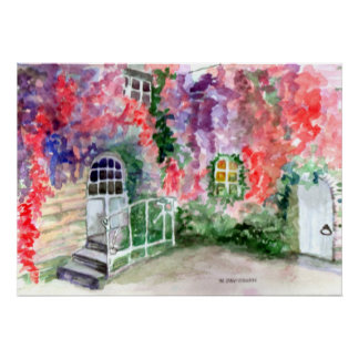 CANVAS - WATERCOLOR PAINTING BY HARRIET DAVIDSOHN POSTER