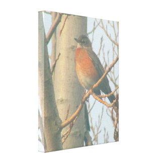 Canvas - Winter Robin